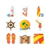 Летние отпуска, каникулы пляжа Стоковое Изображение