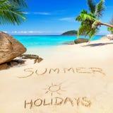 Летнии отпуска на пляже Стоковая Фотография