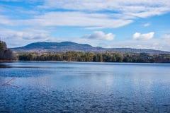 Летний день Peacefull в Нью-Гэмпшир стоковая фотография