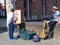 Летний день в Брюгге стоковые фотографии rf