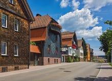 Летний день в немецком городке Freudenstadt Стоковое Фото