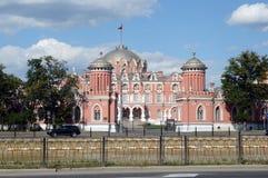 Летний день июль Москвы дворца Petroff стоковая фотография rf