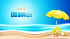 Летний отпуск в seashore бесплатная иллюстрация