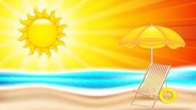 Летний отпуск в seashore иллюстрация вектора