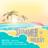 Летний отпуск - дизайн вектора летних каникулов Стоковые Изображения