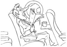 летный пассажир Иллюстрация штока