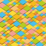 Лето Абстрактная предпосылка вектора равновеликих кубов Геометрические квадраты в цветах лета Стоковое Изображение RF