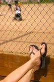 лето бейсбольного стадиона Стоковые Фотографии RF