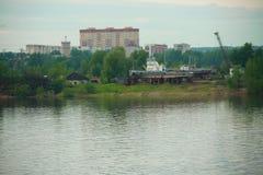 Лето берега шлюпки стоковая фотография rf