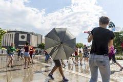 Лето боя водяного пистолета Стоковая Фотография RF