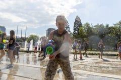 Лето боя водяного пистолета Стоковое Изображение RF