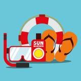 Лето вектора иллюстрации графическое, перемещение, праздник Стоковые Фото