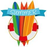 Лето вектора иллюстрации графическое, перемещение, праздник Стоковое фото RF