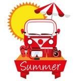 Лето вектора иллюстрации графическое, перемещение, праздник Стоковая Фотография RF