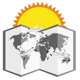 Лето вектора иллюстрации графическое, перемещение, праздник Стоковое Фото