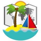 Лето вектора иллюстрации графическое, перемещение, праздник бесплатная иллюстрация