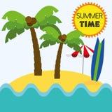 Лето вектора иллюстрации графическое, перемещение, праздник Стоковые Изображения