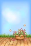 Лето вектора цветет … естественной предпосылки Стоковое фото RF