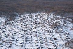 лето выселка коттеджа русское типичное Стоковые Изображения