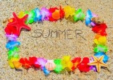 Лето в гаваиской рамке Стоковая Фотография