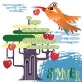 Лето в лесе Стоковые Изображения