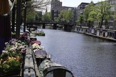 Лето в реке солнечности Амстердама Стоковая Фотография RF