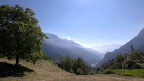 Лето в Soglio (Graubunden, Швейцарии) Стоковые Фото