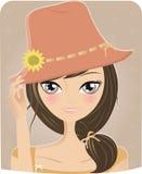 лето девушки иллюстрация штока
