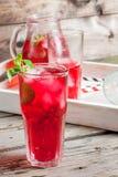 Лето заморозило красное питье - чай или сок Стоковые Изображения RF