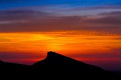 Лето захода солнца горы Стоковые Изображения