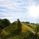 лето зеленого холма Стоковые Изображения RF