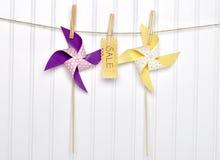 лето знака сбывания pinwheels принципиальной схемы Стоковая Фотография