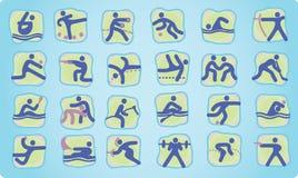лето икон олимпийское иллюстрация вектора