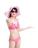 Лето и счастливая девушка бикини Стоковое Изображение