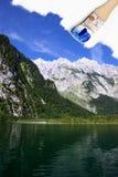 лето картины горы ландшафта озера Стоковая Фотография