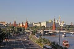 лето красного цвета kremlin зоны 2005 после полудня Стоковые Изображения