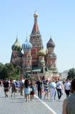 Лето красной площади Москвы собора базилика s St стоковое изображение
