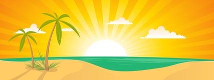лето ландшафта острова тропическое Стоковое Изображение RF