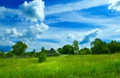 лето ландшафта предпосылки Стоковое Фото