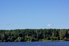 Лето ландшафта реки Стоковое Фото