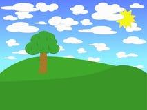 лето ландшафта Иллюстрация штока