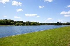 лето ландшафта предпосылки Стоковая Фотография RF