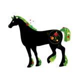 лето лошади иллюстрация штока
