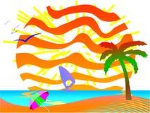 лето места пляжа Стоковое фото RF