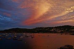 Лето морем, Llafranc, Каталония, Испания Стоковое Изображение RF
