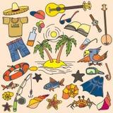 Лето, море, лето белизна иллюстрации фингерпринта предпосылки Стоковое Фото