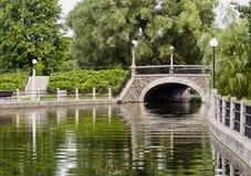 лето моста каменное стоковая фотография rf