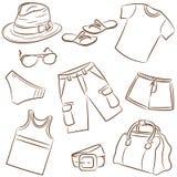 лето мужская одежда иллюстрация вектора