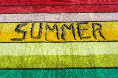 Лето написанное на полотенце Стоковое Изображение RF