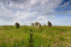 Лето на круге камня Duddo Стоковое Изображение RF